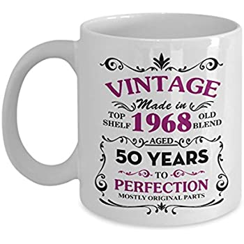 Happy 50th Birthday Mugs For Mom 1968 11 Oz