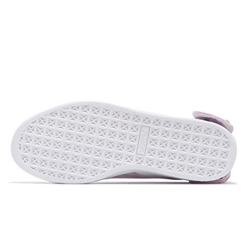 winsome Bow White Puma Orchid Suede Basket 37 qHH5I