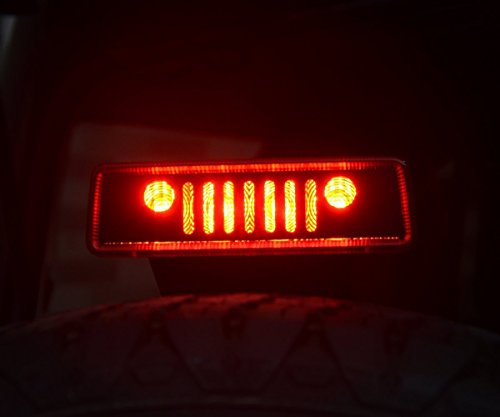 ZGAUTO Balck Jeep Wrangler Third Brake Light Cover for 2007-2017 Jeep Wrangler Unlimited JK JKU Rubicon Sahara Sport X S