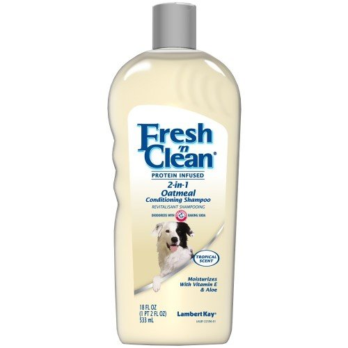 Fresh'n Clean Pet 2-in-1 Oatmeal and Baking Soda Formula Conditioning Shampoo, 18-Ounce (Packaging may vary) (Lambert Oatmeal Kay)