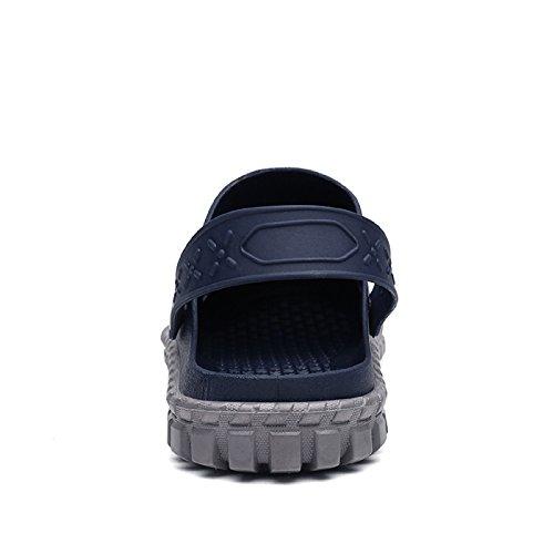 Azul Gold Zapatillas T Respirable Oscuro Playa Sandalias Zuecos Hombres Chanclas de Mujeres Unisex ZdPdq