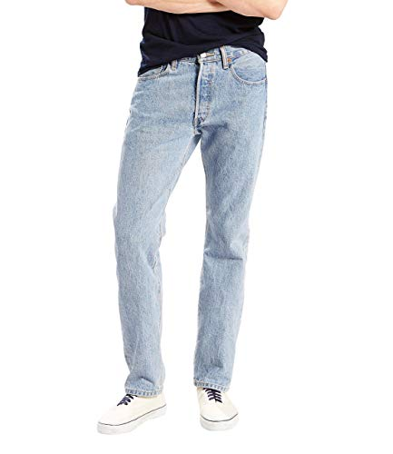 Levi's Men's 501 Original Fit Jean, Light Stonewash, 32x32 (Shoes To Wear With Light Blue Jeans)