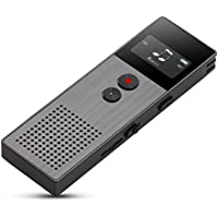 Digital Voice Recorder MP3 Player, Double Microphone with Built-in Speakers, Multifunctional, USB, Rechargeable, Voice Activated, 8GB Mini Simple Sound Audio Dictaphone for Meetings Lectures