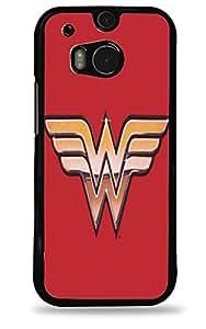 Wonder Woman HTC One (M8) Black Hardshell Case