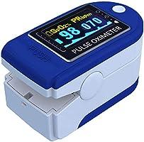 E T EASYTAO 4 en 1 Oxímetro de Pulso de Dedo con Pantalla OLED, Monitor Digital de Frecuencia de Respiración RR,...