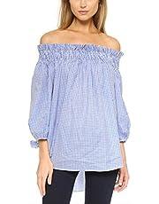 ZANZEA Women's Plus Size Off Shoulder 3/4 Sleeve Loose Long Tops Blouse Shirt Black US 18/Asian 2XL