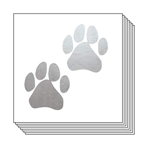 Silver Paw Prints Temporary Tattoos (20-Pack) | Skin Safe | MADE IN THE USA| Removable]()