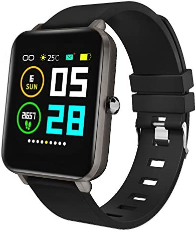 "Zagzog Smart Watch Square Multifunction for Men Women, Compatible for Android iOS Phones, IP68 Waterproof, Step Counter, All-Day Activity Tracking, 1.54"" Large Screen, Ultra-Long Battery Life"