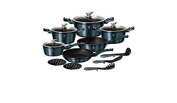 batería de cocina berlinger Haus 15 unidades Metallic Line Color Aquamarine Edition: Amazon.es: Hogar