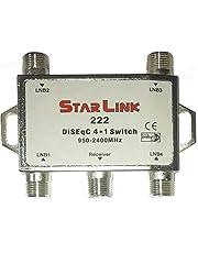 سويتش دايسك 4×1 لتثبيت 4 اقمار الصناعية على نفس جهاز الاستقبال