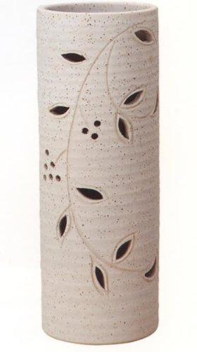 信楽焼陶器 傘立 花透し長傘立 高さ57.0cm 7116-10 B00D0JTF8G