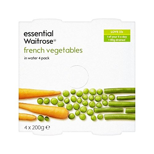 French Vegetables In Water essential Waitrose 4 x 200g - Pack of 4
