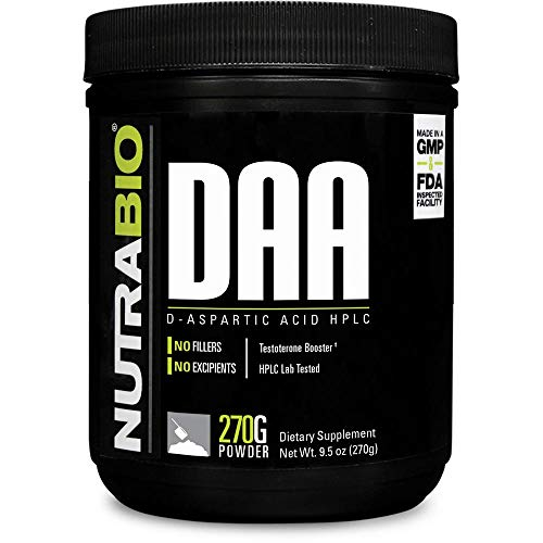 NutraBio D-Aspartic Acid (DAA) Powder - 270 Grams, 90 Servings (Best Way To Take D Aspartic Acid)