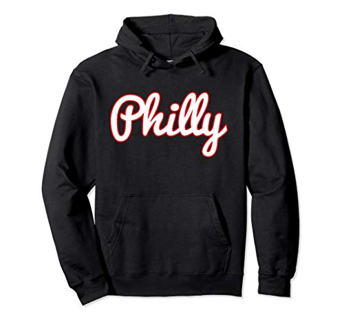 (Script Philly Logo Philadelphia PA Hoodie Hooded Sweatshirt)