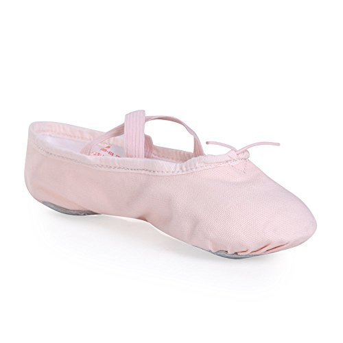 Stelle Girls' Ballet Slipper Dance Shoe Yoga Shoe (Toddler/Little Kid/Big Kid) (11 M Little Kid, Pink)