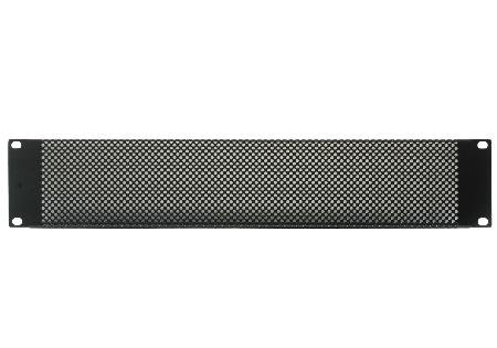 RACK PANEL, 2U, STEEL, BLACK (555 Panel)