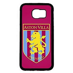 Aston Villa Football Club Logo Phone Case Cover For Samsung Galaxy S6,Protective Black Hard Plastic Case For Samsung Galaxy S6
