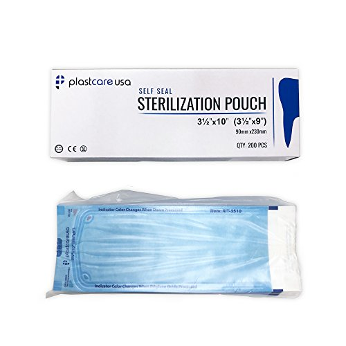 1000 Self-Sealing Sterilization Autoclave Pouch, 3.5'' x 10'', Paper/Blue Film (5 Boxes) by PlastCare USA (Image #2)