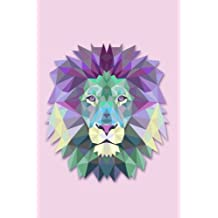 Polygonal Geometric Lion's Head Notebook Journal: Lion Notebook Lined