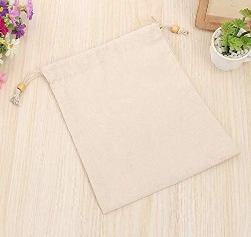 JIESD-Z - Bolsa de lino reutilizable de algodón orgánico para ...