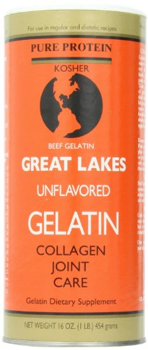 Kosher Great Lakes Unflavored Gelatin (454g = 1lb)