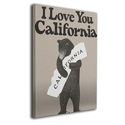 - Warm-Tone Art I Love You California Canvas Prints Wall Art Oil Paintings for Living Room Dinning Room Bedroom Home Office Modern Wall Decor 16x20 Inch