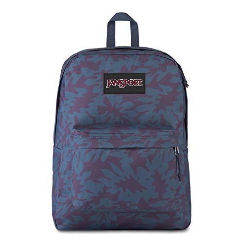 JanSport Black Label Superbreak Backpack - Lightweight School Bag   Mountain Foliage Print