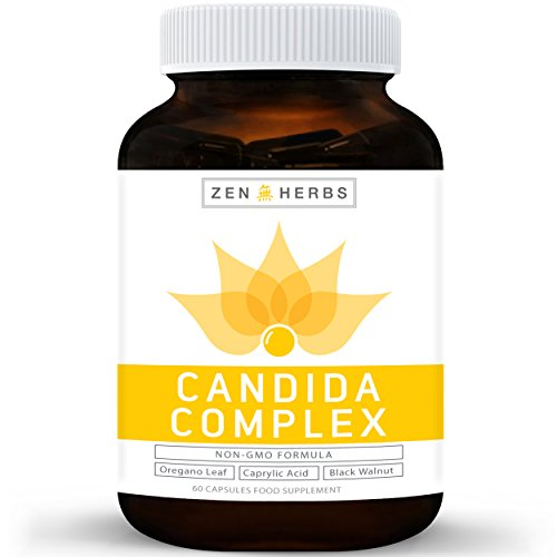 Candida Cleanse & Yeast Support 60 Capsules (Non-GMO) Powerful Natural...