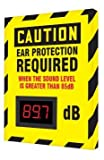 OSHA Caution Industrial Decibel Safety Sign ''Caution Ear Protection REQUIRED When The Sound Level is Greater Than 85dB