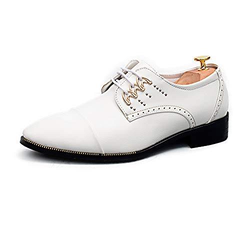 Trend De Blanco Oxford A Bangxiu Vestir 41 Business Cuero Negocios Color Los Low Tamaño Cómodos Eu Formales Zapatos color British Ayuda Negro Punta Hombres Con vxq5wCq4p