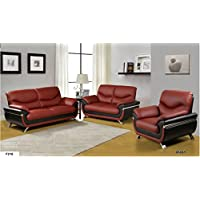 Golden Coast Furniture 3 Pc Leather Sectional (Multiple Colors) (Ruby)