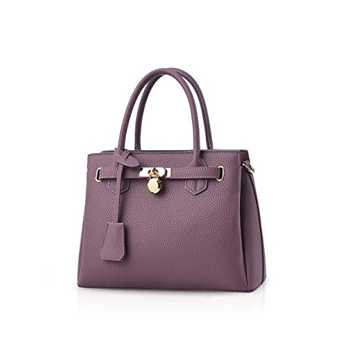modello Nero amp; a Litchi New PU Classic The borsa Elegante Leather Fashionable Bag NICOLE Viola DORIS Shouder mano aHqxOO