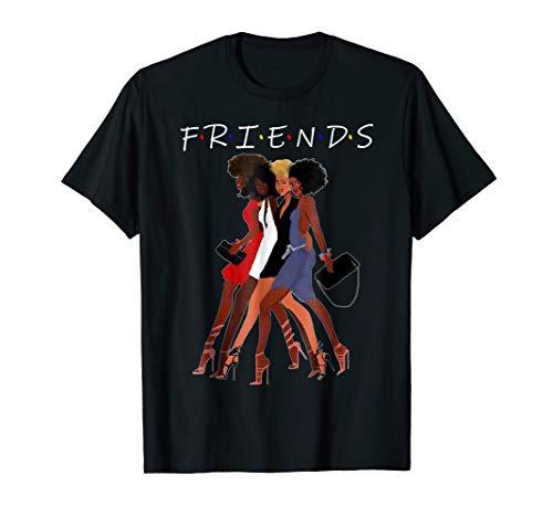Natural Hair Black Queen Friend T-Shirt For Black Girl