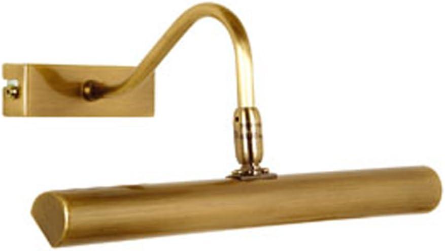 Oaks Lighting PL G9 AB Picture Light - Lámpara para Cuadro, 240 V, 2 Bombillas G9 de 25W, color Latón Envejecido, 28,5 x 13,5cm