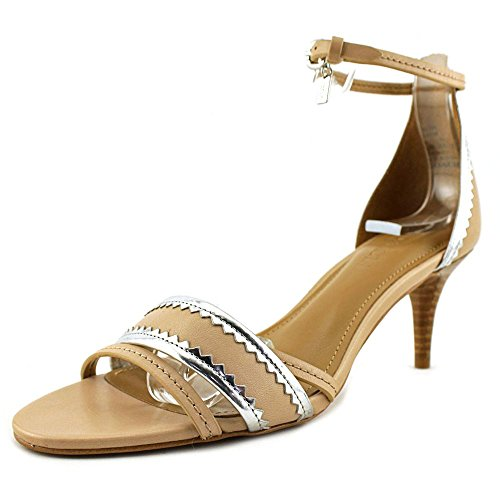 Toe Metallic Womens Casual Mirror Open Silver Calf Beechwood Slingback Maxine Leather Matte Sandals Coach IATxOO