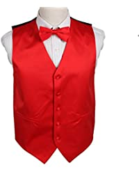 DGEE.01 Italy Series Plain Microfiber Fashion Vest Matching Bow Tie by