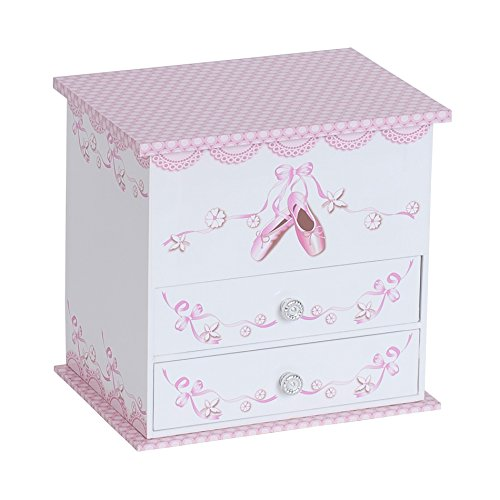 Mele & Co. Angel Girl's Musical Ballerina Jewelry Box (Ballet Slipper and Ribbon Design) -