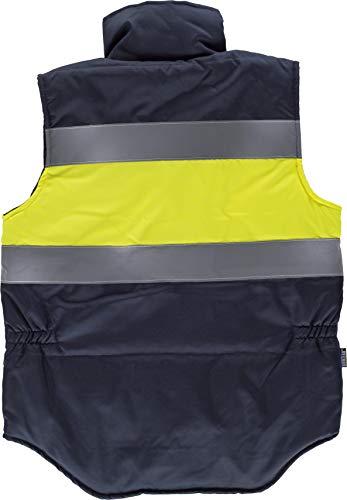 Work Team Chaleco acolchado y multibolsillos con dos cintas reflectantes y tejido de alta visibilidad. HOMBRE 4