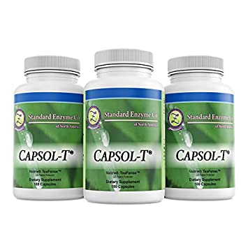 CAPSOL-T – Food Based Supplement – Made with Decaffeinated Green Tea and Red Chili Pepper Extracts 180 Capsules
