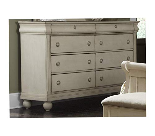 Wood & Style Furniture Rustic Traditions II Bedroom 8 Drawer Dresser 64