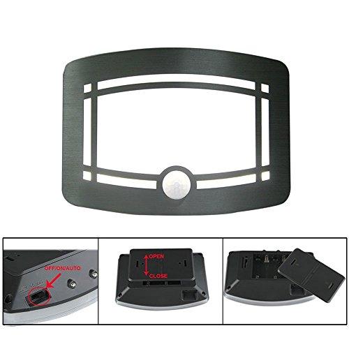 Luxury Aluminum Case Wireless Stick Anywhere Battery Powered Motion Sensor Lights/Wall Sconce/Spot Lights/Hallway Night Light by Hallomall (Image #3)
