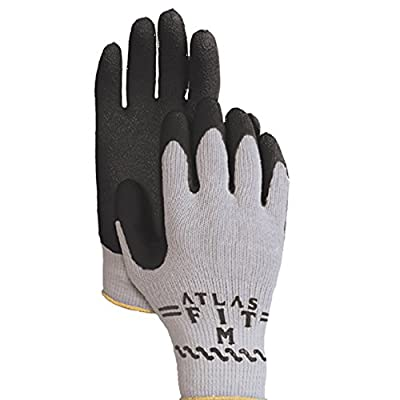 Bellingham C3000BKL Black Premium Seamless Knit Work Glove with Natural Rubber Black Latex Palm