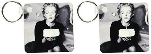 3dRose Marilyn Monroe – Key Chains, 2.25 x 4.5 inches, set of 2 (kc_3749_1)