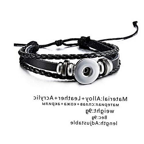 Gatton 12 Constellations Braid Punk Leather Bracelet Men Women Fashion Vintage Bangle | Model BRCLT - 44010 |