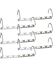 Newthinking Metal Magic Hangers, 6 Pack Space Saving Hangers, Heavy Duty Updated Hook Design Closet Organizer Space Saving Clothing Hangers for Wardrobe Clothes