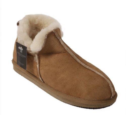 Schafsleder-Pantoffeln in Boot-Stil für den Mann