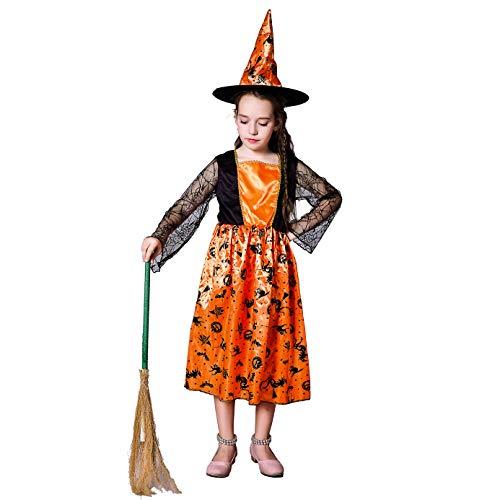 Kid's Pumpkin Witch Fancy Dress Costume (10-12) Orange