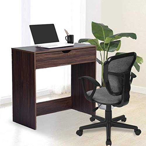 Computer Writing Desk with 1 Storage Drawer Wooden Study Table Desk for Home Office, Walnut Brown TAR012 by Coavas (Image #2)