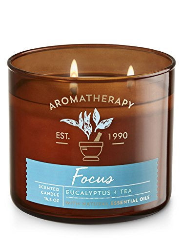'Bath & Body Works 3Wick Candle–Aromatherapy Scented Candle–Eucalyptus & Tea Focus