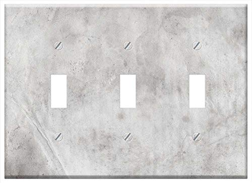 Grunge Overlays - Switch Plate Triple Toggle - Dirty Grunge Vintage Overlay Effect Gray Silver
